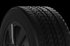 Black tire texture Stock Images