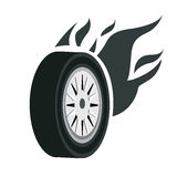 A black tire Royalty Free Stock Image