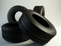 Black Tires Royalty Free Stock Photos