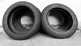 Black Tires Stock Photos