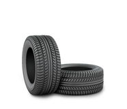 Black tires Stock Images