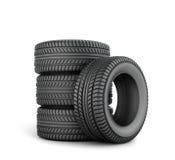 Black tires Royalty Free Stock Photo