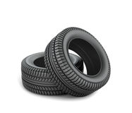 Black tires Stock Photography