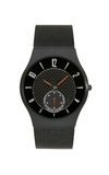 Black titanium wrist watch isolated  background Stock Photography