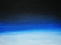 Black to blue gradient. Abstract acrylic painting.  Stock Photo
