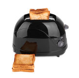 Black toaster isolated Royalty Free Stock Images