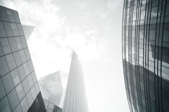 Black tone skyscrapers and light Royalty Free Stock Photo