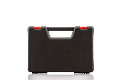 Black tool box, plastic case. Royalty Free Stock Photos