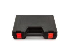 Black tool box, plastic case . Stock Photo