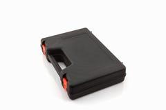 Black tool box, plastic case. Royalty Free Stock Image