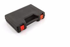 Black tool box, plastic case. Stock Image