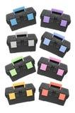 Black Tool Boxes stock image
