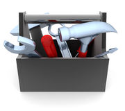 Black toolbox. On white background (done in 3d Royalty Free Stock Image