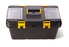 Black toolbox. Instruments for men Stock Photo