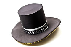 Black top hat isolated on white Royalty Free Stock Images
