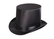 Black top hat. Isolated on white background Royalty Free Stock Image