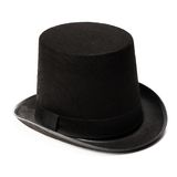 Black top hat isolated Stock Image