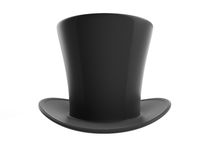 Black top hat. On white background Stock Images