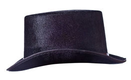 Black top hat on white Stock Image