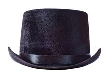 Black top hat on white Royalty Free Stock Photo