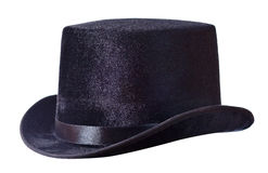 Black top hat on white Royalty Free Stock Photos