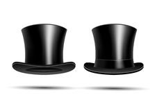 Black top hats Stock Photography