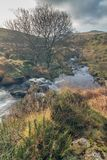 Black tor falls. Can be found on the river meavy just outside of Princetown within dartmoor national park Royalty Free Stock Photography