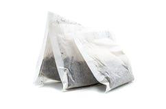 black torby zielone herbata ziołowa 3 zdjęcie stock