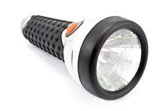 Black torch flashlight Royalty Free Stock Images