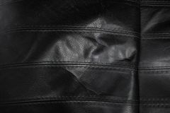 Black torn leather texture stock photo