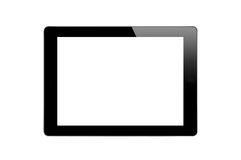Black Touch Screen Tablet Stock Image