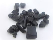 Black Tourmaline is also a powerful grounding stone, electrical in nature, providing a connection between Earth and the human spir royalty free stock photography