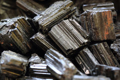 black tourmaline mineral collection Royalty Free Stock Images