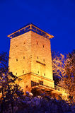 Black Tower, Brasov, Transylvania, Romania. Black Tower in Brasov, Transylvania county in Romania. The tower was built in 1494 on a rock on Straja Hill, near the Stock Images