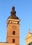 Black Tower in Ceske Budejovice Stock Photo