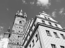 Black Tower and Town Hall in Klatovy Stock Photography