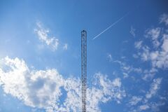 Black Tower Under Blue Sky during Daytime Royalty Free Stock Image