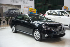 Black toyota crown car Royalty Free Stock Image