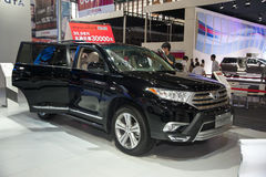 Black toyota highlander car Royalty Free Stock Photos