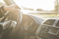 Black Toyota Steering Wheel stock images