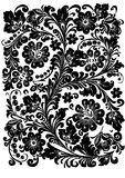 Black traditional pattern Stock Photos