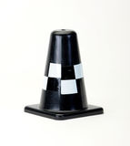 Black Traffic cone on white Royalty Free Stock Images