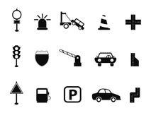 Black traffic icon set Royalty Free Stock Image