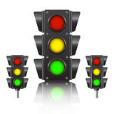 Black traffic light Royalty Free Stock Photo