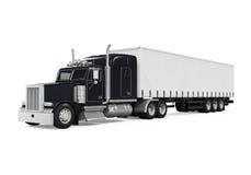 Black Trailer Truck royalty free illustration