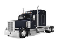 Black Trailer Truck Royalty Free Stock Photos