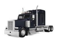 Black Trailer Truck. Isolated on white background. 3D render vector illustration
