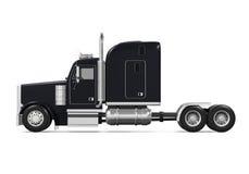 Black Trailer Truck stock illustration