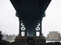 Black Trailer Truck Under Bridge during Daytime Royalty Free Stock Photography