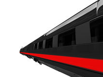Black train isolated view Royalty Free Stock Photos